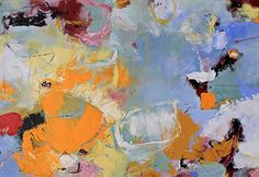 """Daily Painters Of Colorado: Contemporary Abstract Painting,Expressionism Art """"Fragments of the Sun"""" by Abstract Artist Nijole Rasmussen"""