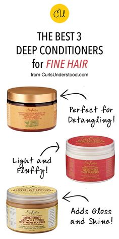 natural hair care We breakdown our picks for the best deep conditioner for fine hair. Natural hair is fine no matter the texture but if yours is especially fine read on. Fine Curly Hair, Curly Hair Tips, Curly Hair Care, Natural Hair Tips, Hair Care Tips, Wavy Hair, Natural Hair Styles, Fine Natural Hair, Hair Updo