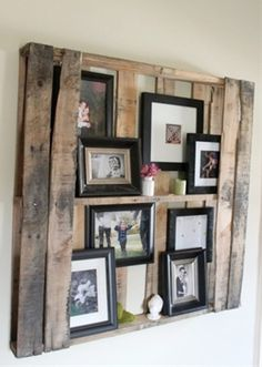 Wood Pallet Shelves ~ Need this