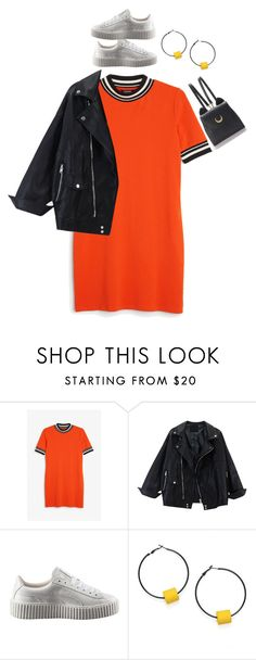"""Bez tytułu #4039"" by olgon ❤ liked on Polyvore featuring Monki, Puma, SCENERY and WithChic"