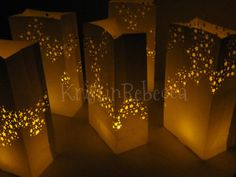 Star Luminary Bags with LED Candles - for front walk