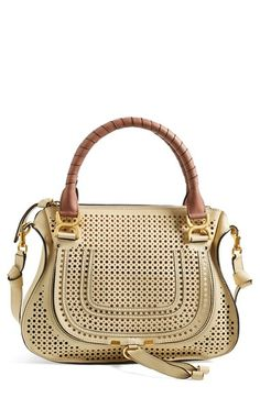 Chloé 'Small Marcie' Perforated Leather Satchel available at #Nordstrom