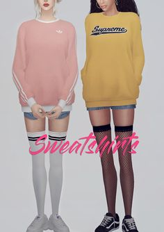 KK Sweatshirts 03 FM • Clothes Top • Female (T-E) / Male ver. • My mesh / All morphs / All LODs • Custom thumbnails • 14 Color / 38 Logo • Does not work with HQ mod • You can add logo swatches at...