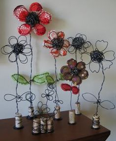 Art as Usual: wire and fabric art