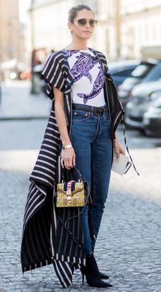 Couture Fashion Week street style.