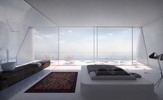 Villa F With Impressive Futuristic Architecture - DigsDigs
