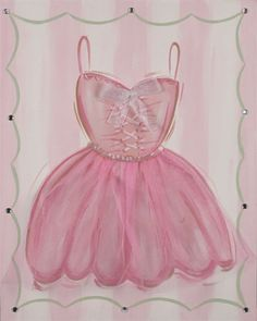 @Rosenberry Rooms is offering $20 OFF your purchase! Share the news and save! Tutu Ballet Dress Hand Painted Canvas #rosenberryrooms