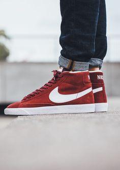 Nike Blazer Mid Premium Team Red #sneakernews #Sneakers #StreetStyle #Kicks