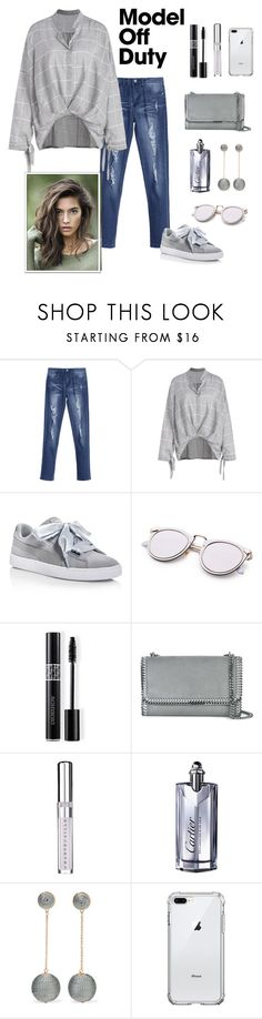 """Untitled #557"" by notjustarandomgirl10 ❤ liked on Polyvore featuring Puma, Christian Dior, STELLA McCARTNEY, Chantecaille, Cartier and Kenneth Jay Lane"