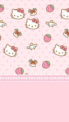 ❤ Çocuklar için Hello Kitty'li duvar kağıdı ❤
