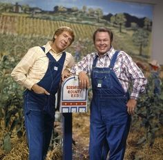 Hee Haw with Buck Owens and Roy Clark ~ Good, clean, corny fun and awesome a-pickin' and a-grinnin'.