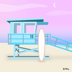 dawn patrol - Limited Edition of 8 Artwork Color Vector, Vector Art, Sunset Surf, Beach Aesthetic, Pink Sky, Buy Posters, New Media, Phone Backgrounds, New Art