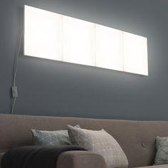Kit panneau LED décoratif Puzzle, 1 x 10 W, plastique blanc, INSPIRE