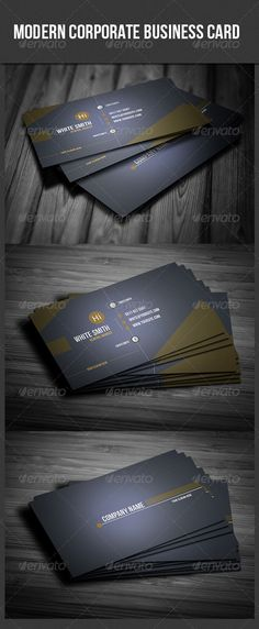 Buy Modern Corporate Business Card by Unicogfx on GraphicRiver. Modern Corporate Business Card Business Card Details: Size CMYK Ready 300 dpi Bleeds Font Information: All font. Minimal Business Card, Business Card Psd, Corporate Business, Business Card Design, All Fonts, Print Templates, Web Design, Design Ideas, Minimalism