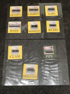 The shunting puzzle cards have now been laminated to protect them. 