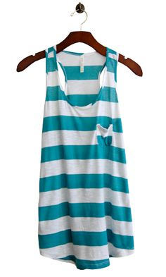 What a lovely tank :)  (http://www.shopconversationpieces.com/welcome-to-stripe-season-tank-teal-back-in-stock/)