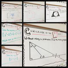 FREE grade math Challenge of the Week problems! Topics include the number& Math Teacher, Math Classroom, Teaching Math, Teaching Ideas, Teacher Tips, Teaching Materials, Future Classroom, Teacher Stuff, Math Games