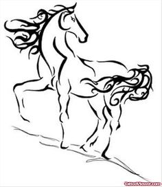 Maori Horse Tattoo Sample | Tattoo Viewer.com