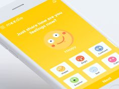 Mood Sharing Interaction Design designed by Bala UX ✪. Connect with them on Dribbble; Motion Design, Emotions App, Feelings, Interaktives Design, Design Patterns, Flat Design, Design Thinking, Mobile Ui Patterns, Baby Apps