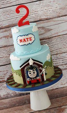 Thomas the Train Cake Golden Birthday Cakes, Sweet 16 Birthday Cake, Little Man Cakes, Little Mermaid Cakes, Science Cake, Lumberjack Cake, Mickey And Minnie Cake, Shopkins Cake, Carnival Cakes
