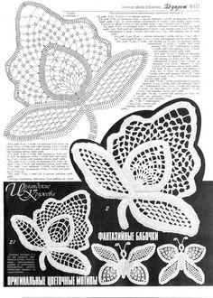 Gehäkelte Blume Muster Kleider Damen Lace von RussianCrochetBooks