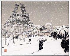 Paris in winter;Henri Riviere  @「〜パリの浮世絵師〜アンリ・リヴィエール」