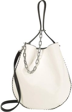 e027a4a59913 Alexander Wang Roxy White Leather Hobo Shoulder Bag handbags leather