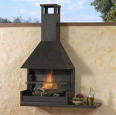 Design Barbecue, Grill Design, Parrilla Exterior, Built In Braai, Fire Pit Bbq, Brick Bbq, Industrial Design Furniture, Outdoor Oven, Fire Pit Designs