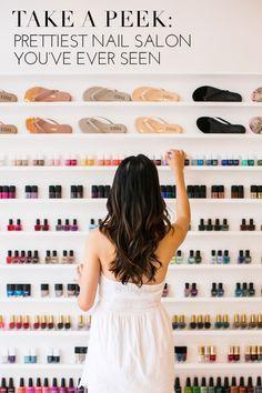 The pretty and simple nail salon