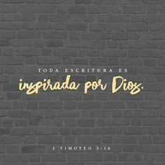 Toda la Escritura es inspirada por Dios, y útil para enseñar, para redargüir, para corregir, para instruir en justicia, a fin de que el hombre de Dios sea perfecto, enteramente preparado para toda buena obra. 2 Timoteo 3:16-17 RVR1960 http://bible.com/149/2ti.3.16-17.RVR1960