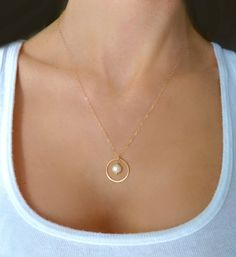 Infinity necklace sterling silver interlocking circle necklace dainty freshwater pearl necklace for women rose gold pearl necklace with open circle pendant bridesmaid gift jewelry sterling silver aloadofball Image collections