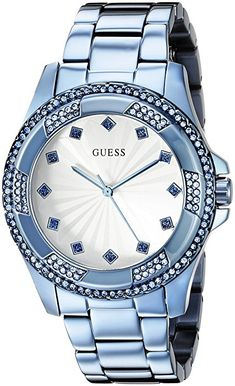 GUESS Women's U0702L1 Iconic Sky Blue Classic Stainless Steel Watch