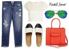 Kendall Jenner wore her Paige Denim Jimmy Jimmy Skinny Jeans in Clifton Destructed while out in The Hamptons with a Saint Laurent bag and Chanel Espadrilles. Get her look here! http://thejeansblog.com/celebs-in-denim/get-the-look-kendall-jenner-in-paige-jimmy-jimmy-skinny-jeans-in-clifton-destructed/