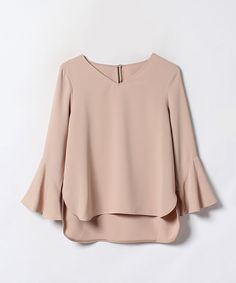 Shop Bow Tie Back Frill Bell Sleeve Top online. SheIn offers Bow Tie Back Frill Bell Sleeve Top & more to fit your fashionable needs. Teen Fashion Outfits, Modest Fashion, Look Fashion, Hijab Fashion, Fashion Dresses, Casual Hijab Outfit, Blouse Outfit, Casual Dresses, Casual Outfits