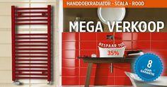 Handdoekradiator - SCALA is best een goed uitziende radiator; hij zal de show niet stelen, maar wel jou en je handdoeken de hele dag warmhouden. Beschikbaar in allerlei kleuren.