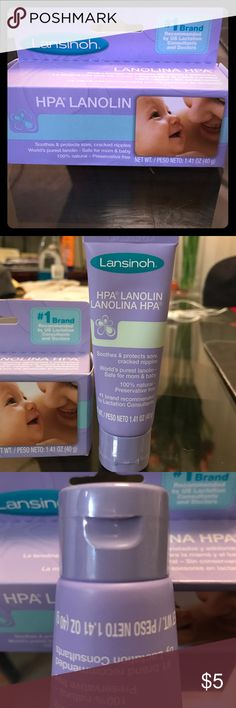 Lanolin Cream Brand new never opened Lanolin cream. I had a few boxes of these for my plan to breastfeed my baby girl. Unfortunately breastfeeding wasn't in the cards for us long term, so I ended up with an extra that I never opened. 40 gram tube. Comes with original box. Bundle with another item and save 10% Lansinoh Other