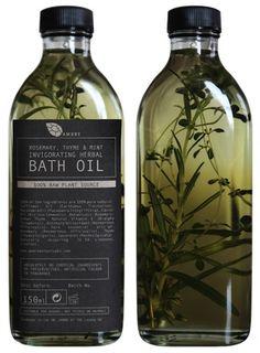 Embalagem para óleo aromatizado..