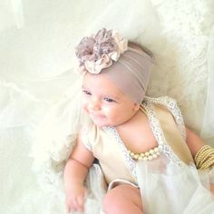 baby girl headwrap with rhinestone Bohemian baby by Yasminelayani