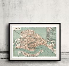 Map of Venice - 1886 - FREE SHIPPING - SKU 0277 by PaulMaps on Etsy