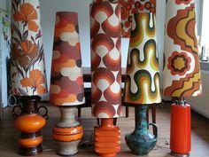 5 beautiful vintage lamps!