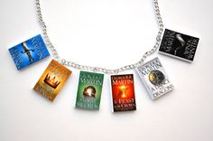 Game Of Thrones Book Series Necklace / Book Charms George R.R. Martin | Spearcraft - Jewelry on ArtFire