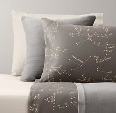 Night Sky & European Vintage-Washed Percale Bedding Collection | Bedding Collections | Restoration Hardware Baby & Child