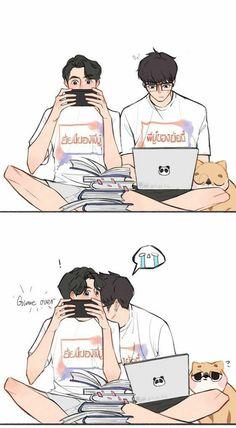 Cute Anime Boy, Anime Love, Ideal Boyfriend, Dramas, Kissing In The Rain, Gay Aesthetic, Cute Gay Couples, Music Wallpaper, Thai Drama