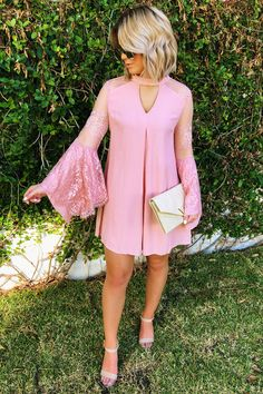 Share to save 10% on  your order instantly!  Chase The Wind Dress: Blush