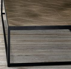 Rh S Metal Parquet Coffee Table We Ve Adapted Geometric Patterns Originating More Than 300