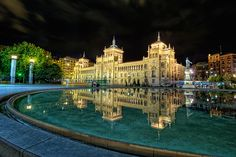 Spectacular Architecture in Spain - Plaza Zorrilla, Valladolid (Spain) HDR, taken by marcp_dmoz on Spanish Architecture, Architecture Photo, Amazing Architecture, Historic Architecture, Oh The Places You'll Go, Places To Travel, Places To Visit, Gaudi, Beautiful Places