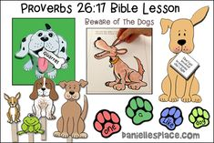 Bible Crafts About Fighting Bible Story Crafts, Bible Stories, Learning Activities, Kids Learning, Proverbs 26, Dangerous Dogs, Verses For Cards, Bible Lessons For Kids, Resource Room