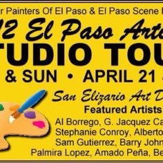 Artist Studio Tour will feature San Elizario Art District Artists in April. Historical Society, Historical Sites, County Jail, Tour Guide, Art Studios, Tours, San, Artists, Travel Guide