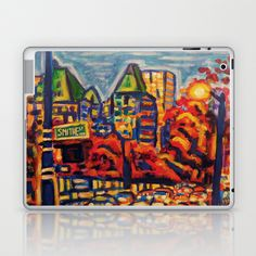 Southbound City Traffic Laptop & iPad Skin by Morgan Ralston - $25.00