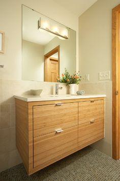 Contemporary Bathroom Design Ideas, Pictures, Remodel and Decor 牆面和櫃子搭配